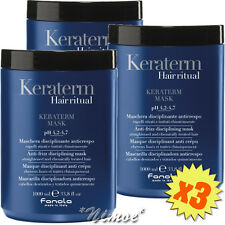 Keraterm Mask 3 x 1000ml Fanola ® Anti-frizz Disciplining Straightened Treated