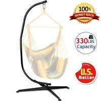 C Hammock Stand Frame Solid Steel Construction For Hanging Air Porch Swing Chair