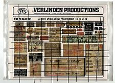VERLINDEN PC DA35-004 - 1/35 ALLIED ROAD SIGN / NORMANDY TO BERLIN - NUOVO