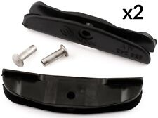 2x WINDOW TRIM CLIP FOR RENAULT CLIO SCENIC MEGANE SIDE LIFTER CLIPS BLACK