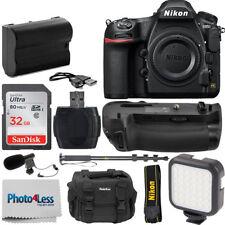 Nikon D850 45.7MP DSLR Camera Body + Battery Grip + Complete Video Accessory Kit
