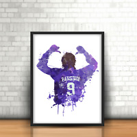 Gabriel Batistuta - Fiorentina Inspired Football Art Print Design Number 9
