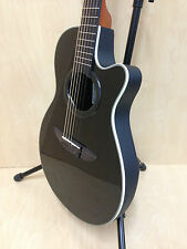 "38"" Caraya C-836BK Round-back Acoustic Guitar,Black w/Free gig bag,String Set"