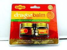 Paquete De 2, El Bálsamo Calmante Masaje Bálsamo de Dragón calma & Relax dolor de cuerpo de los músculos.