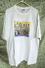 Day of the Dead T-shirt Vtg 90's Bicycle Skeletons Jose Guadalupe Posada Euc