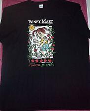 NEW Men's / Women's WINEY MARY Tomato Jalapeno WINE Knit TOP T-SHIRT Size 2 XL