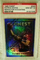 PATRICK EWING 1995 TOPPS FINEST REFRACTOR #243 PSA 10 GEM MINT W/COATING POP 2