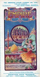 1906 Newcastle on Tyne Empire Theatre Original Program Fred Karno Fred Kitchen