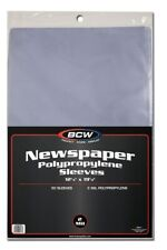 Case of 1000 BCW 12 X 19 Newspaper Acid Poly Sleeves 12x19