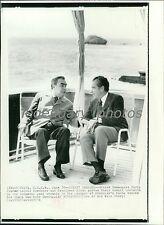 1974 Richard Nixon Leonid Brezhnev Summit Leaders Original New Service Photo