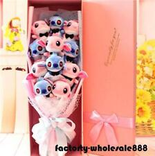 Nice Bunch of 12 Lio Stitch Dolls Toys flowers Christmas Creative Gift Box