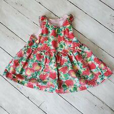 vintage oshkosh baby b'gosh strawberry fruit dress 12m Usa red green