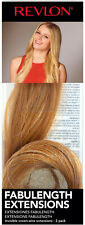 """REVLON 18"""" FABULENGTH HAIR EXTENSIONS 2-PIECE INVISIBLE CROWN GOLDEN BLONDE"""