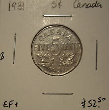 B Canada George V 1931 Five Cents -  EF+