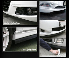 Black Side Skirts Lip Rubber Splitter Chin Trim Body Kit for Sedan SUV RV