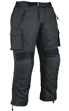 Mens Cargo Motorbike Motorcycle Trousers Armour Protection Waterproof