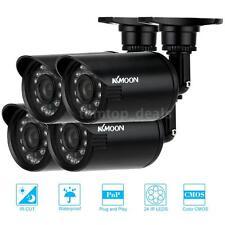 4x KKMOON 800TVL IR-CUT Bullet Surveillance Security CCTV Camera Waterproof W0P3