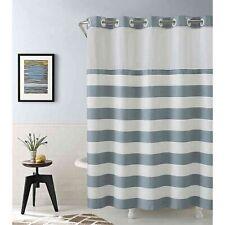 Hookless Cabana Stripe 74-Inch x 71-Inch Shower Curtain in Blue
