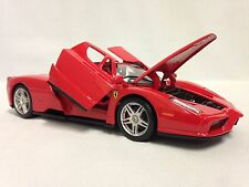 Ferrari Enzo, Race Play Collectible, Diecast Model Car 1:24 Scale, Burago, Red
