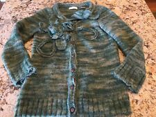 Sleeping On Snow Wool And Mohair Button Up Sweater Cardigan Small EUC