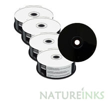 100 Mediarange Negro Inferior blank CD-R discos Completo Blanco Para Escribir