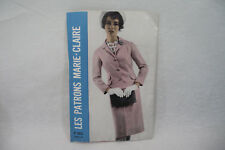 "Ancien PATRON MARIE-CLAIRE 60's TAILLEUR type ""JACKIE KENNEDY"" n°3872 Taille 44"