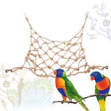Pet Bird Climbing Net Parrot Toys Hemp Rope Training Climbing Pet Bed Bird C~JP
