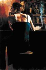 """Fabian Perez    """"Waiting for a Drink""""   AP   Embellished Giclee on Canvas    FC"""