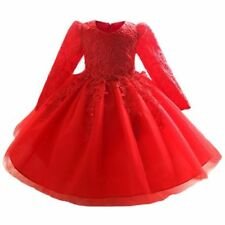 Princess Lace Long Sleeve Dresses (2-16 Years) for Girls