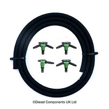 Peugeot 1.6 HDI Diesel Injector Leak Off Return Connector Pipe Complete Kit