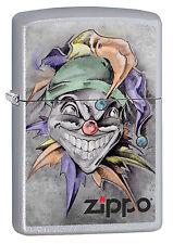 NEUHEIT 2017!!! ZIPPO Feuerzeug JOKER Brushed Chrome Zippo Logo NEU OVP
