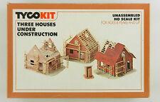Tyco Kit #7766 THREE HOUSES UNDER CONSTRUCTION   HO Scale ~ Unbuilt, NOS