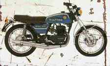 Bultaco Metralla 250 1975 Aged Vintage Photo Print A4 Retro poster
