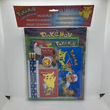 Brand New 1999 Pokemon Value Pack - Nintendo Item # 4098 - Study Kit / Folders