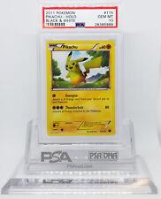 Pokemon BLACK AND WHITE BASE PIKACHU #115 SECRET RARE CARD PSA 10 GEM MINT #*