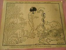Adam et le serpent Eve m'a rudement déprimé Humour Print 1905