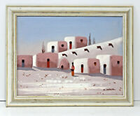 Adobe 12 x 16 Art Oil Painting on Canvas w/Custom Frame