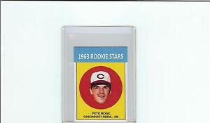 1963 #14 Pete Rose Reprint Card Small Version MINT (A-69)