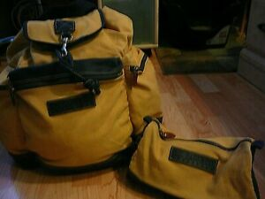 Rare Vintage GH Bass CO. Adventure Canvas  Backpack
