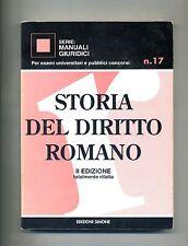 STORIA DEL DIRITTO ROMANO # Edizioni Simone - II Edizione - V