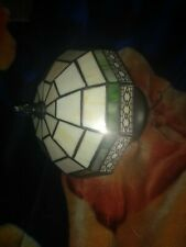 VINTAGE TIFFANY STYLE SMALL HANGING CEILING SHADE LAMP