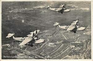 Saunders Roe A.19 Cloud RAF Flying Boats in Flight RP Unused Dutch Postcard