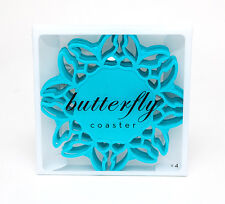 Silicone Blue Butterfly Coasters Set Tableware Placemats Dinner Tea Party Coffee