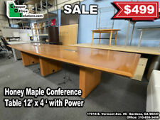12 X 4 Honey Maple Conference Table With Power