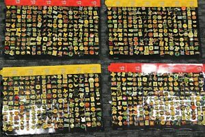 Lot of 4 Vintage Sheets of Lapel Pins 198 per sheet 792 total Lapel Pins