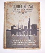 Uhrmacher Katalog Rudolf Flume Berlin Werkzeuge & Werkstattbedarf 1937 selten !