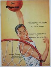 1958 Wilt Chamberlain Harlem Globetrotters Basketball Program
