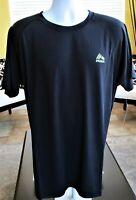 RBX Men's Poly Rashguard Athletic Shirt UV Protection Short Sleeve Sz L Apparel