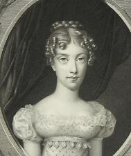 Marie-Caroline de Bourbon-Siciles d'ap Henri Joseph Hesse M Gudin sc c 1820