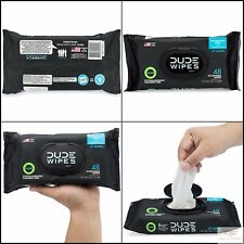 Dude Wipes Flushable Wipes Dispenser , Unscented Wet Wipes (3 Packs 48 Wipes)